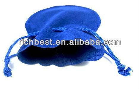 promotional gift drawstring silk velvet gift bag