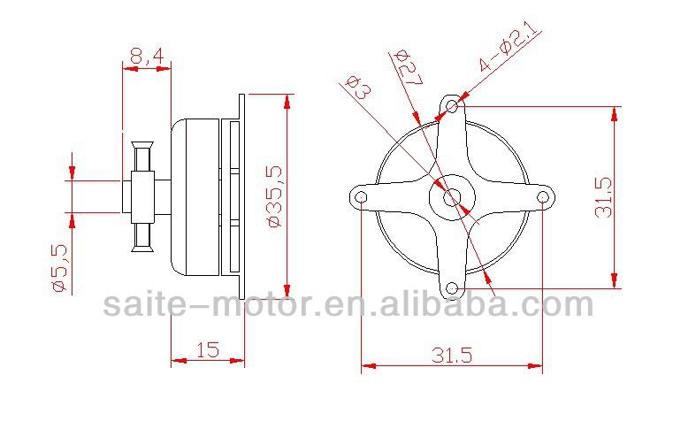 2206C rc model brushless motor for hobby rc airplane