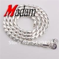 Колье-цепь GSSPN012/ silver wedding necklace, chain.fashion jewelry, Nickle antiallergic, factory price