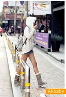 Женская куртка 2011, Korean, new, fall and winter, women, fashion, personality, double zipper, hooded, sweater, jacket