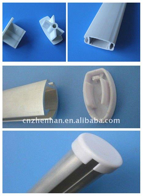 Trilho de cortina redondo menor trilho inferior para for Tubos de aluminio para toldos