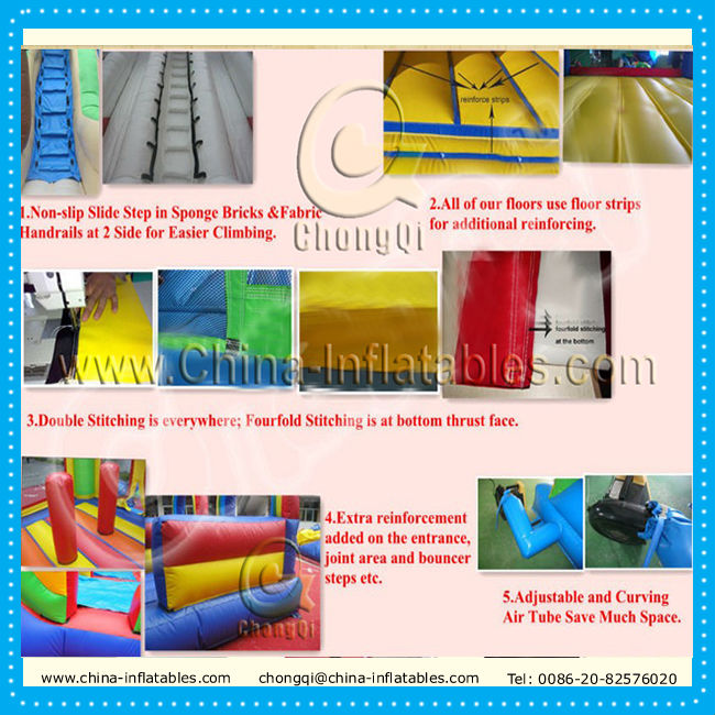 new long inflatable water slides