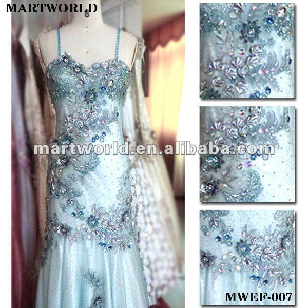 La boda vestidos de encaje bordado de diamantes de imitación ...