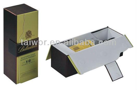 Cardboard wine carrier box