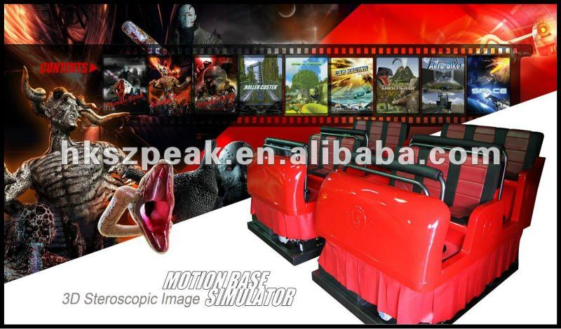 6 seats 6dof hydraulic 5d cinema system with separate chairs