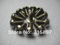Ti Titanium Disc Brake Rotor Bolts/Disk Rotor BOLTS of Super light M5 x 10mm 12 PCS a set