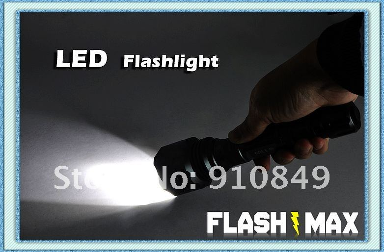 FlashMax G175 - CREE LED Power Flashlight (210 mm) free shipping