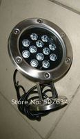 12W free shipping IP 68   single color led Underwater Light