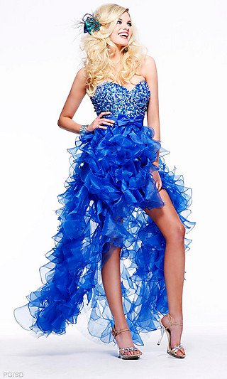 Strapless Sweetheart Beaded Ruffle Dress SH-2415-3.jpg