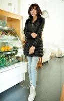 Женские пуховики, Куртки 2013 New Fashion Long Down Feather for Women