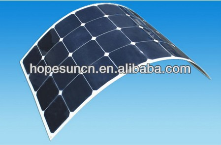 New High efficiency mono sunpower solar panel, solar flexible pv panel 130W