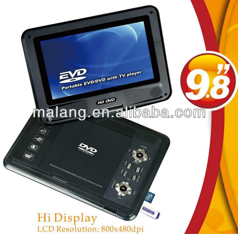 India market for 9 inch high-definition portable DVD Player with attractive model