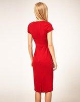ASOS Midi Pencil Dress With Pleat Waist