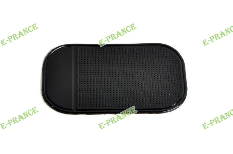 Powerful Silica Gel Magic Sticky Pad Anti-Slip Mat for Phone PDA mp3 mp4 Car  black color for 5 piece  Free Shipping
