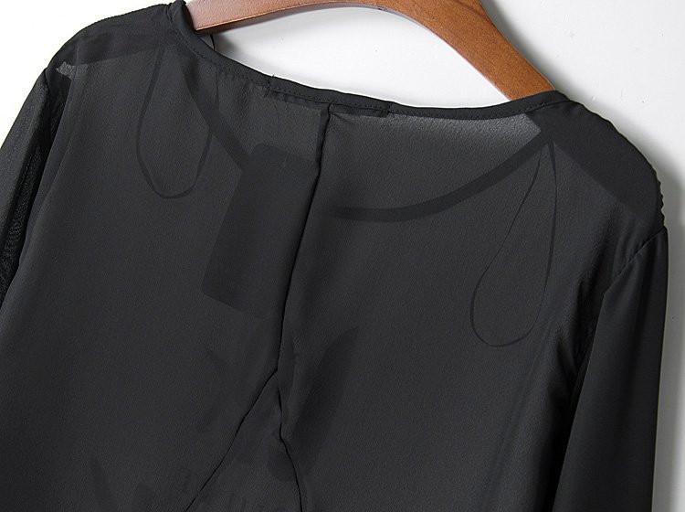 Весна Европейский и американский стиль za бренд моды буквы английского Сращивание Женская одежда шеи печати рукав рубашки женщины