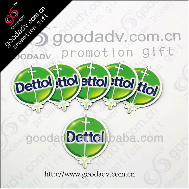 New design personalized LOGO shape paper fridge magnet