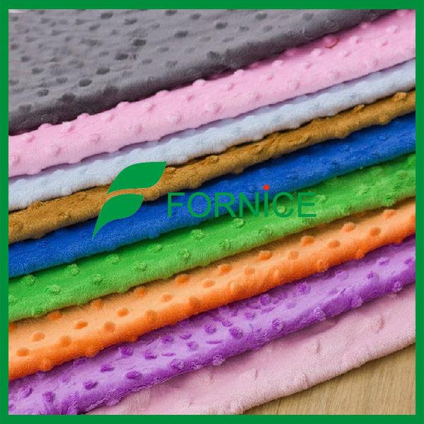 100% super sofa minky dot fabric for baby blanket