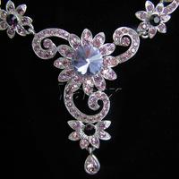 Ювелирный набор Wedding Bridal Bridesmaid Party Earring Necklace Jewelry Set Rhinestone WA104-4