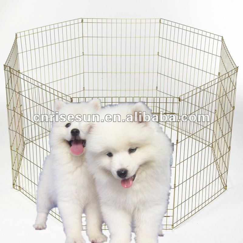 outdoors durable and foldable pet exercise pen (ISO9001& SGS Lead Test Certificate )