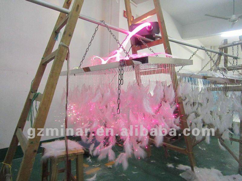 Fiber Optic Chandelier, fiber optic lighting, feather chandelier