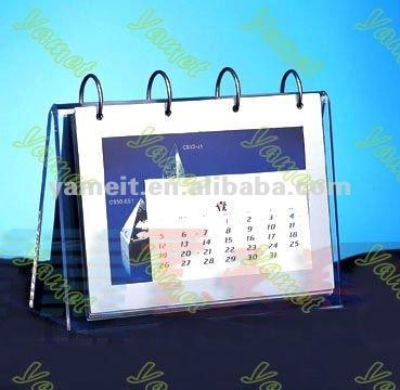 2013 for New pattern Acrylic desk calendar