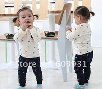 Комплект одежды для девочек Girl's suits Boy's sport suits baby polo printing pony long sleeve t-shirt +pants