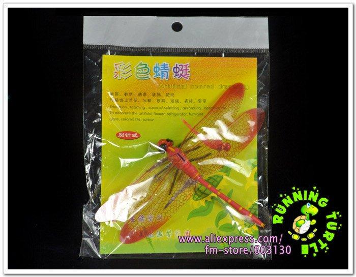 Wholesale 30pcs Lot L Pin Dragonfly Wedding Decoration PVC Vivid Dragonfly
