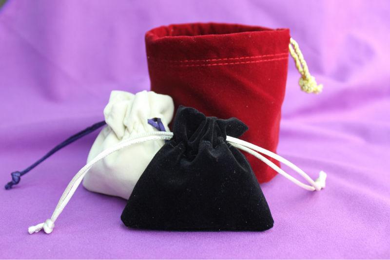 2013 new design velvet drawstring gift pouches