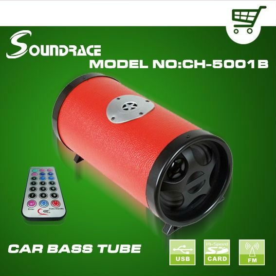 5 inch digital car bass tube with FM transmitter CH-5001B