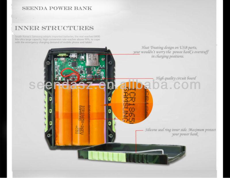 High Quality Rechargeable Waterproof Power Supply 7800mah/8400mah/6600mah