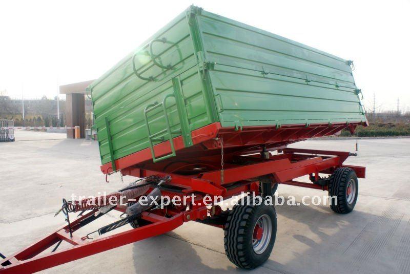 7CX-8t tractor dump trailer, 2 axles, air brake ,3 way tipping