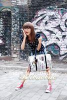 Сумка для путешествий с короткими ручками 0336 PU Lady Tote Bag hotsale street sport and retail