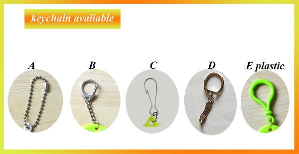 reflective pvc promotion key chain, customizabl
