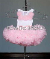 factory direct sales  new design fashion petti lace tops + skirt  for girls