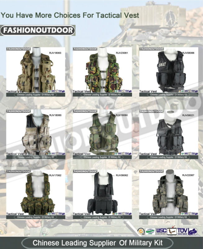 Multicam Camo Military Multi Pocket Vest Army Tactical Vest