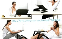 Компьютерный стол HOT!!!Free shipping,2012 new Portable Notebook stand, Ipad table, folding laptop desk smallest 438mm,Ipaiter438CRM