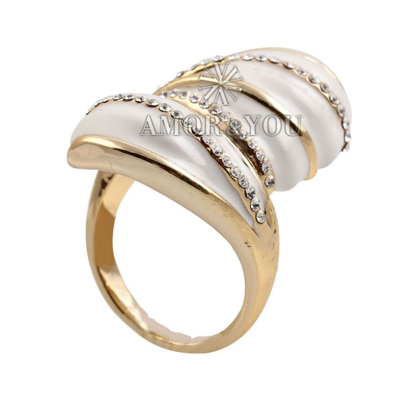 unique new design gold finger ring simple gold rings