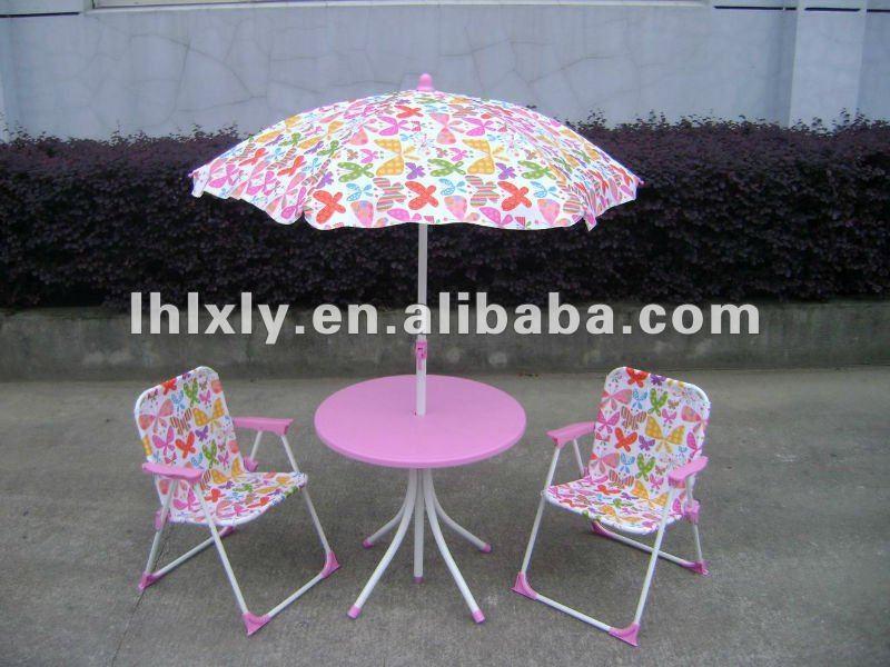 Metal y pl stico para ni os mesa y sillas para exterior o - Mesa jardin plastico ...