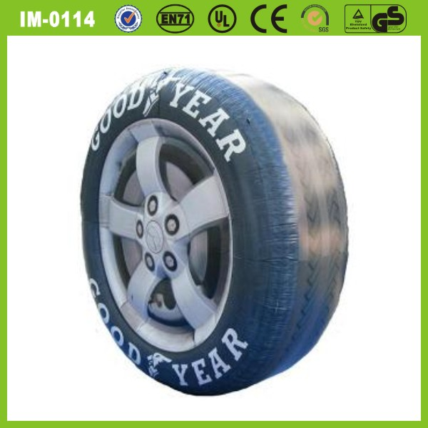 Advertising inflatable tyre with printing,customized tire model with PVC tarpaulin