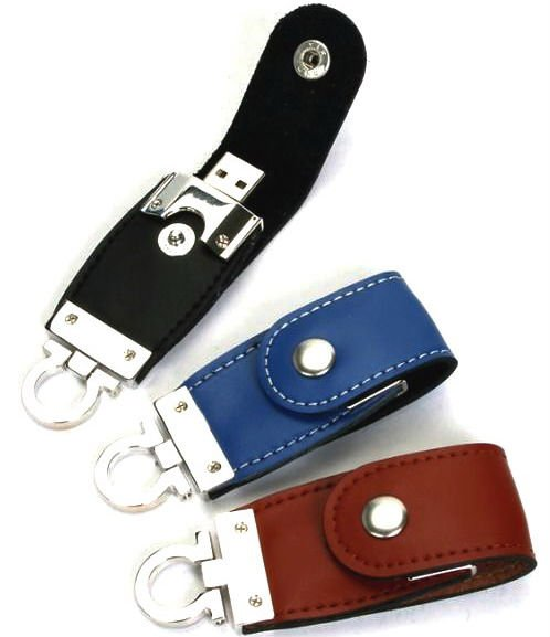 Hot!!! Leather USB Flash Disk With Free Imprinted Logo