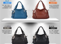 Free Shipping 2013 new women's handbag,the cow leather shoulder bag ,messenger bag,4colour