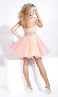 Free Shipping Short Strapless Tulle Dress  for Homecoming  2012