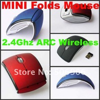 Компьютерная мышка Hot Selling 2.4G Wireless Mouse USB Cordless Folding Mouse for desktop Notebook Laptop PC 2011 new version