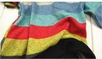 5шт/много моды корейский стиль мальчиков красочные полосатые Футболки детские Весна zz0342 одежда с длинным рукавом