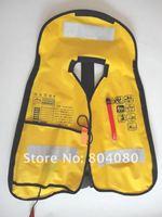 Guranteed 100% Nylong fabric Manu Inflatable life jackets of 150N + free shipping