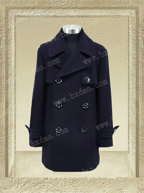 81621M-dark blue- men's high quality and brand winter overcoat/wool overcoats for men/latest coat styles for men