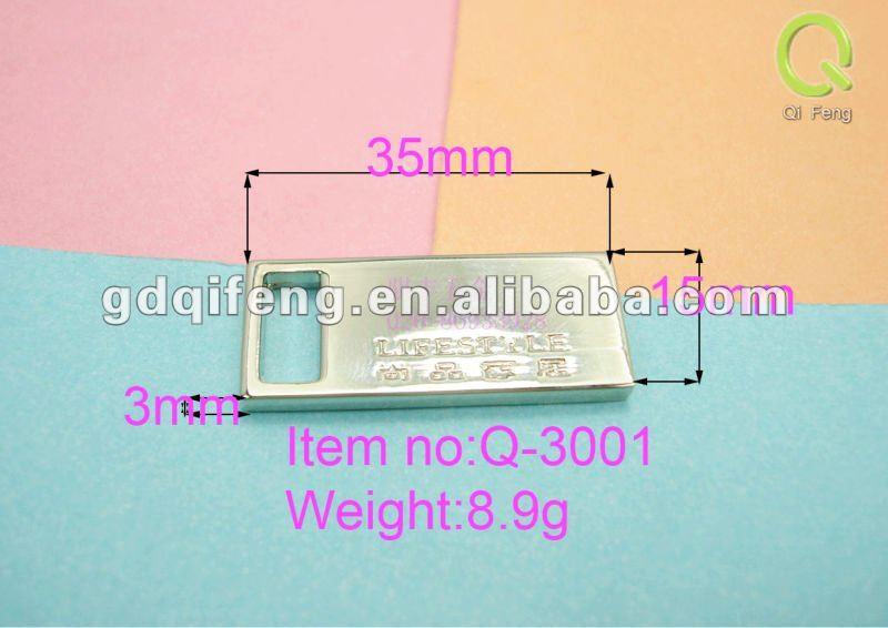 wholesale luggage tag suitcase parts metal logo bag handle Q-3001