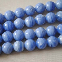 Бусины New Beads! 76pcs/Lot, Imitation Blue Agate Bead, Dyed Color, Loose Gemstone Beads, Size: 10mm