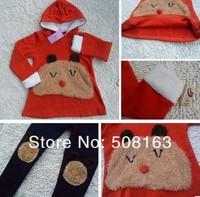 Толстовка для мальчиков Cute children's clothing big face panda 2 pcs set girls thicken fleece hooded suit warm Hooded pants set winter Autumn