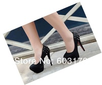 Туфли на высоком каблуке Europe Ladies pumps.14cm high heel shoes.punk rivet party shoes hh1275